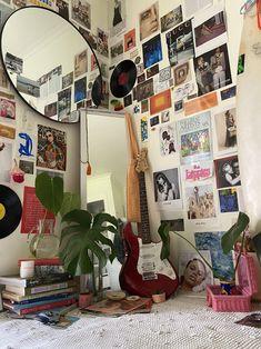 Grunge bedroom #bedroom #bedroomideas Room Design Bedroom, Room Ideas Bedroom, Bedroom Decor, Bedroom Inspo, Men Bedroom, Indie Room Decor, Cute Room Decor, Bohemian Decor, Retro Room