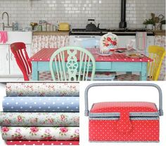 Cath Kidston kitchen Oil cloth so you do not hide the table