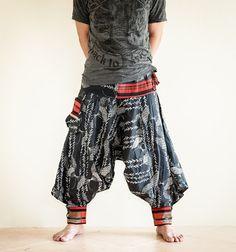 Tribal Harem Ninja Pants Hmong Low Crotch by AmazingThaiStore, $36.00