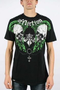 Amazon.com: Affliction - Mens Grange T-Shirt In Black: Clothing