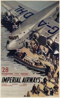 Авиакомпания Imperial Airways - 28 летающих лодок типа Empire с полетной скоростью 320 км в час -- Великобритания (1937 год)