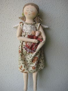 Original+textile+doll.+handmade.++Angel+Doll+by+TinaVanDijk