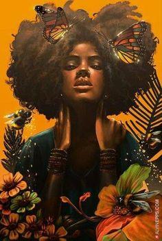 Hair art illustration inspiration new Ideas Black Love Art, Black Girl Art, Art Girl, African American Art, African Art, African Culture, Tribal African, African Animals, African Safari