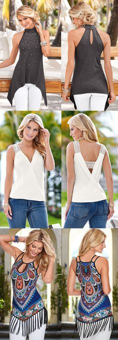 Have a casual day ahead or a fun night on the town? These tops are perfect for anywhere you go! Most tops under $39!