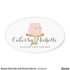 Elegant pink cake with florals cake decorating business card elegant pink cake with florals cake decorating business card business cards and business reheart Image collections