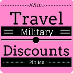 Travel Military Discounts Board for various hotels and theme parks. Updated weekly!