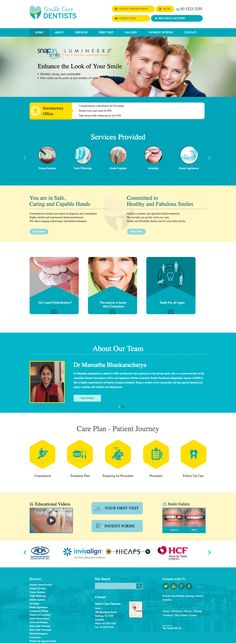 Our website design for a Dental Clinic in Geelong. We develop a awesome, professional-looking healthcare and medical websites with forms, maps, and image galleries plus more. Web Design, Website Design, Design Ideas, Wordpress, Dentist Website, Site Inspiration, Medical Websites, Dental Videos, Smile Care