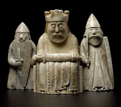 """On display: Level National Museum of Scotland """"Found on Lewis in the chessmen are probably the most well-known archeological find from Scotland."""" ---------- To find out more about the Lewis chessmen and other collection highlights, visit our website. Viking Dragon, Viking Art, Medieval Games, Medieval Art, Chess Pieces, Game Pieces, Iron Age, Celtic Art, National Museum"""