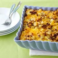 Hashbrown and bacon casserole