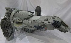 Firefly - Seven-foot long minifig-scale Serenity model is a Lego masterpiece Serenity Ship, Firefly Serenity, Serenity Prayer, Legos, Lego Star Wars, Star Trek, Drake E, Lego Engineering, Film Science Fiction