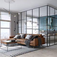 Innovative glass box within Kiev apartment. #Glass #ApartmentLiving #Satori: https://www.satoriandscout.com/architecture-and-culture/innovative-glass-box-within-kiev-apartment/