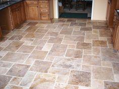 New Kitchen Floor Tile Travertine Master Bath Ideas Kitchen Tile, Kitchen Flooring, Kitchen And Bath, New Kitchen, Kitchen Design, Kitchen Decor, Kitchen Mats, Bathroom Flooring, Travertine Backsplash