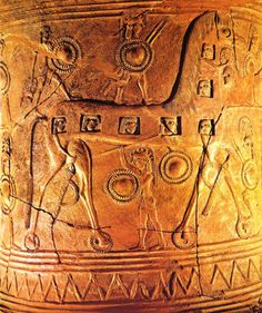 2,700 year old pithos with the oldest known depiction of the Trojan Horse  #Greece The Mykonos vase  Ticia Verveer (@ticiaverveer) | Twitter