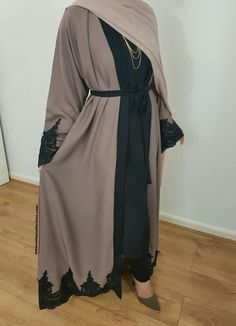 The popular Amal Abaya is now available in a gorgeous Mocha shade! A gorgeous mocha abaya in nidha fabric with black intricate lace at the hem and. Islamic Fashion, Muslim Fashion, Modest Fashion, Fashion Outfits, Fashion Ideas, Modest Wear, Modest Outfits, Casual Outfits, Ideas Hijab