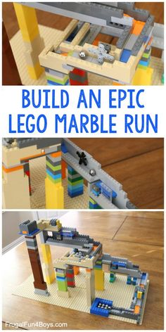 How to Build an EPIC LEGO Marble Run - Use mainly basic bricks to construct a multi-level marble run with cool mechanical features! Great STEM challenge for a LEGO club or STEM club. Fun at home too! Lego For Kids, Games For Kids, Activities For Kids, Stem Activities, Children Games, Space Activities, Lego Display, Lego Sets, Legos