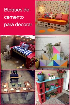 Bloques de cemento para decorar. Decoración con bloques de hormigón. Bloques de concreto para decorar con poco dinero. #bloquesdecemento #decorarconpocodinero #estiloydeco #decoracion #lowcost Coastal Decor, Diy Home Decor, Room Decor, Tanning Chair, Decoracion Low Cost, Bedroom Inspo, My Room, Interior And Exterior, New Homes