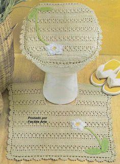 Facilite Sua Arte: Jogo de Banheiro 3 - Tampo do Vaso