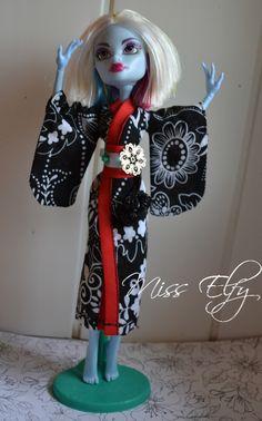 Vetement poupée. Kimono pour MH handmade : Autres pièces pour créations par miss-elfy-creation