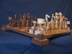 Jazz Chess Set  Handmade on etsy custom by JimArnoldsChessSets, $650.00