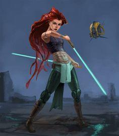 Disney Prinzessin als Jedi. XD
