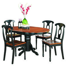 East West Furniture Dining Table Set - Just as I expected. Appears to be of good qualityThis East West Furniture that is ranked 510011 in th Farmhouse Dining Table Set, 4 Dining Chairs, Dining Room Table, Farmhouse Furniture, Cheap Dining Room Sets, Small Kitchen Table Sets, Oval Table, Centerpiece, Table Settings
