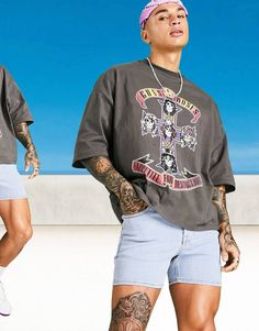 Guns N Roses, Asos, Gym, T Shirt, Shopping, Black, Supreme T Shirt, Tee Shirt, Black People