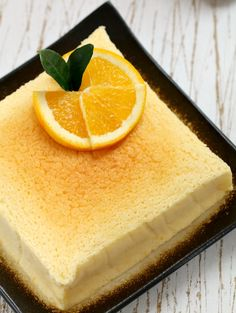 my bare cupboard: Japanese orange soufflé cheesecake with orange and lime curd