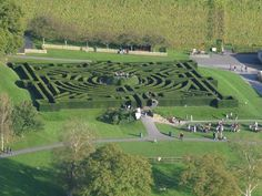 Aerial view of Leeds Castle maze