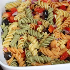 skinny pasta salad - made it this week and is super yummy. did add cilantro to boost the flavor a bit.