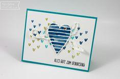 Stampin' Up, Heart Happiness, Geburtstagskarte, handmade card, Herzen