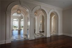 Gorgeous arches with beautiful millwork, Palm Beach, Florida