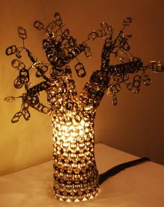 Amazing soda tabs lampshade!