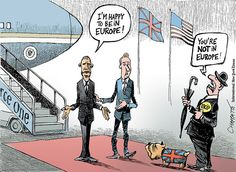 Chappatte on Obama's Visit to London - The New York Times