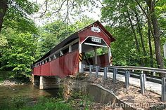 Old Covered Bridges | Old Covered Bridge Stock
