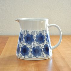 arabia finland malva pitcher - i have the plain white version. Would have loved this though