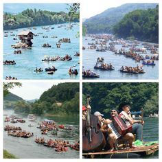 Drina regatta... In the late 19th and early 20th century, the Drina River reigned supreme, rafters who are on their rafts daily savladivali waves whimsi... - Katarina Kaća - Google+