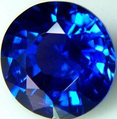 A stunning blue sapphire.
