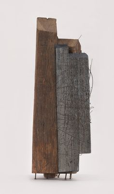 """Untitled  Jesús Rafael Soto (Venezuelan, 1923-2005)    1959-60. Wood, painted wood, metal, and nails, 35 3/8 x 11 3/4 x 13 3/8"""" (89.9 x 29.8 x 34 cm). Committee on Painting and Sculpture Funds. © 2012 Artists Rights Society (ARS), New York / ADAGP, Paris  252.2003"""