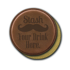 Round Leather Coasters (6) - Stash Your Drink Here