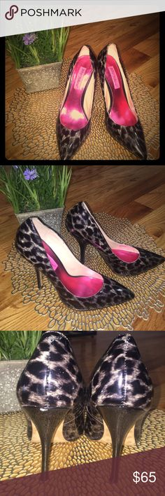 Authentic Betsey Johnson cheetah print Heels Patent leather Cheetah Print heels. One of a kind Betsey Johnson heels! Get them today since #betsey is very rare now Betsey Johnson Shoes Heels
