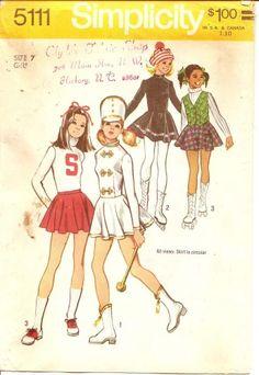 Vintage Girl's Cheerleader Skating Costume