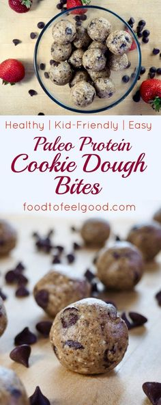 These soft, chewy, naturally sweet cookie dough balls are sooo good!  They're surprisingly packed with protein and full of vitamins and  minerals.