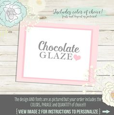Buffet Labels for candy or dessert buffets. We print or You