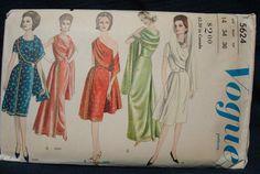 Draped Evening Dress Day Dress Sari UNCUT FF by kinseysue, $58.00