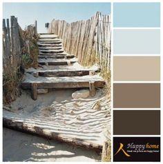 Kleuren geïnspireerd op het strand en duinen.