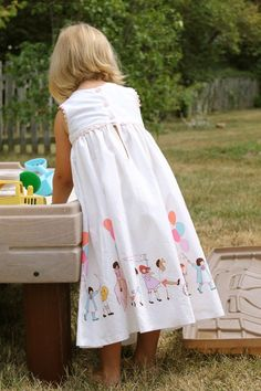 Children at play dress by Made By Rae #sarahjane. (Absolutely LOVE this one.)
