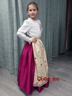 TRAJE BATURRO NIÑA Aragon, Regional, Ideas Para, Tulle, Skirts, Dresses, Fashion, Folklore, Petticoats