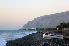 early morning ~ Kamari Beach, Santorini, Greece