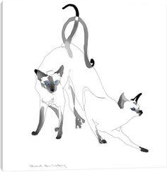 Siamese Siamese Canvas Art Print
