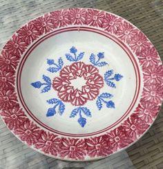 ANTIQUE SPONGEWARE SPATTERWARE SOUP PLATE POSSIBLY SCOTTISH IRISH WELSH 19TH C | eBay